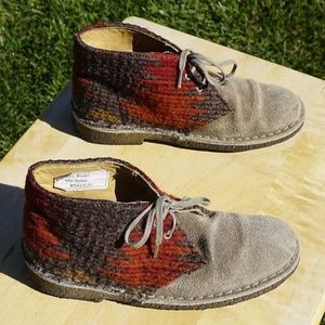 Clarks Street wool leather chukka size 6 VGUC